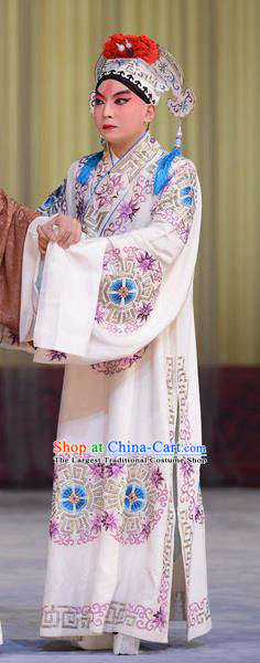 Hong Yang Dong Chinese Peking Opera Xiaosheng Garment Costumes and Headwear Beijing Opera Niche Apparels Young Male Meng Liang Clothing