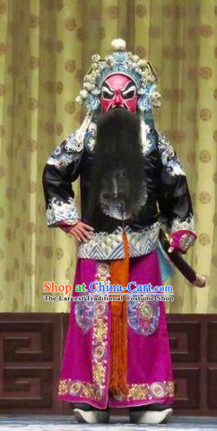 Qin Xianglian Chinese Ping Opera Swordsman Garment Costumes and Headwear Pingju Opera Martial Male Apparels Bodyguard Clothing