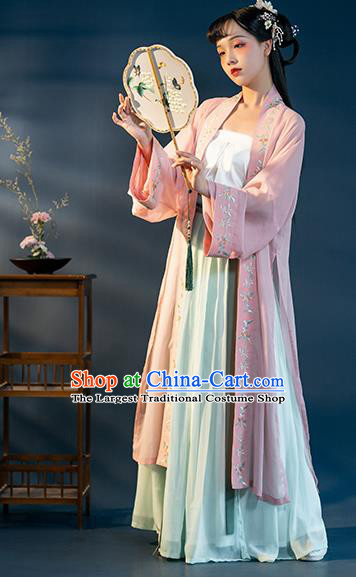 Chinese Song Dynasty Nobility Lady Historical Costumes Ancient Royal Princess Hanfu Dress Traditional Garment Apparels for Women