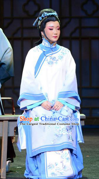 Chinese Beijing Opera Hostess Apparels Imperial Envoy Costumes and Headpieces Traditional Peking Opera Diva Zheng Shuqing Dress Young Mistress Garment