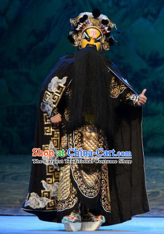 Zhao Tuo Chinese Peking Opera Elderly Male Garment Costumes and Headwear Beijing Opera General Armor Apparels Clothing