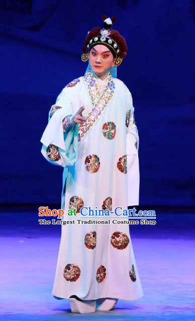 Seven Heros Five Gallants Chinese Peking Opera Niche Bai Yutang Garment Costumes and Headwear Beijing Opera Young Male Apparels Swordsman Clothing