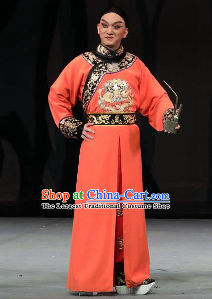 Inspector And Prince Chinese Peking Opera Infante Garment Costumes and Headwear Beijing Opera Xiaosheng Apparels Prince Kang Clothing