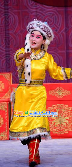 Return to the Han Dynasty Chinese Peking Opera Wa Wa Sheng Garment Costumes and Headwear Beijing Opera Young Boy Apparels Prince Clothing