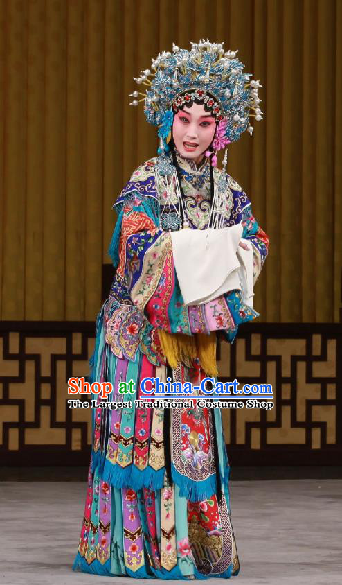 Chinese Beijing Opera Royal Princess Apparels Ming Mo Yi Hen Costumes and Headpieces Traditional Peking Opera Court Lady Dress Hua Tan Garment