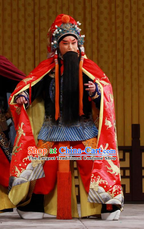 Ming Mo Yi Hen Chinese Peking Opera Laosheng Garment Costumes and Headwear Beijing Opera Distress Male Apparels Emperor Chongzhen Clothing