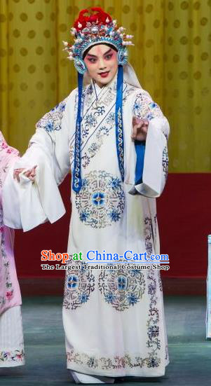 Chun Gui Meng Chinese Peking Opera Niche Wang Hui Garment Costumes and Headwear Beijing Opera Young Male Apparels Martial Man Clothing