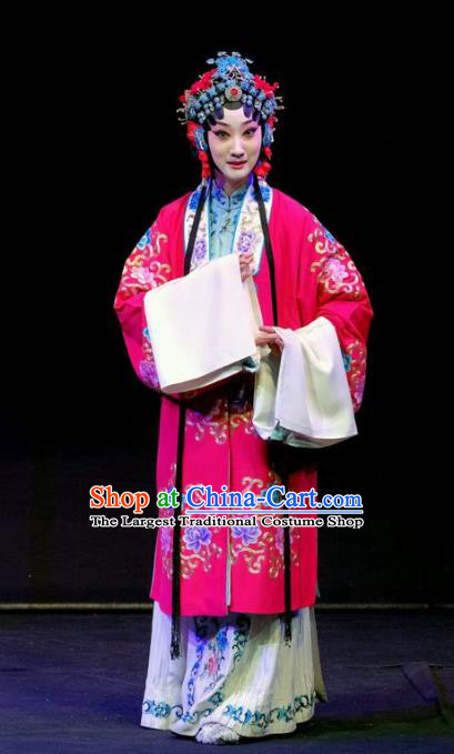 Chinese Beijing Opera Hua Tan Apparels Shen Tou Ci Tang Costumes and Headpieces Traditional Peking Opera Young Female Dress Bride Xue Yan Garment