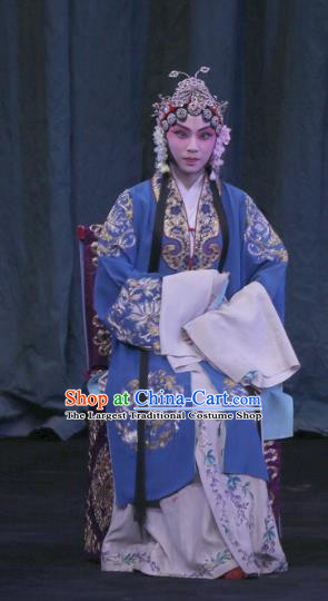 Chinese Beijing Opera Young Female Apparels Yu Guo Yuan Costumes and Headpieces Traditional Peking Opera Imperial Concubine Dress Hua Tan Garment