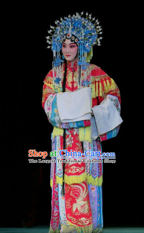 Chinese Beijing Opera Hua Tan Apparels Duan Mi Jian Costumes and Headpieces Traditional Peking Opera Actress Dress Princess Heyang Garment
