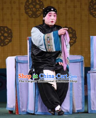 Chinese Beijing Opera Pantaloon Apparels Lv Zhu Zhui Lou Costumes and Headpieces Traditional Peking Opera Elderly Female Dress Laodan Garment