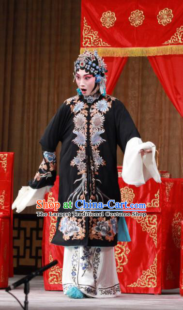 Chinese Beijing Opera Distress Woman Apparels Jiang You Guan Costumes and Headpieces Traditional Peking Opera Hua Tan Dress Young Mistress Garment