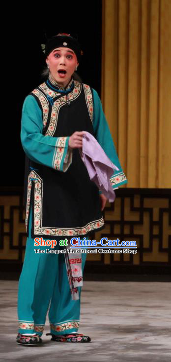 Chinese Beijing Opera Woman Matchmaker Apparels Huo Xiaoyu Costumes and Headpieces Traditional Peking Opera Elderly Female Dress Garment