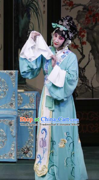 Chinese Beijing Opera Courtesan Apparels Actress Huo Xiaoyu Costumes and Headpieces Traditional Peking Opera Young Beauty Dress Hua Tan Garment