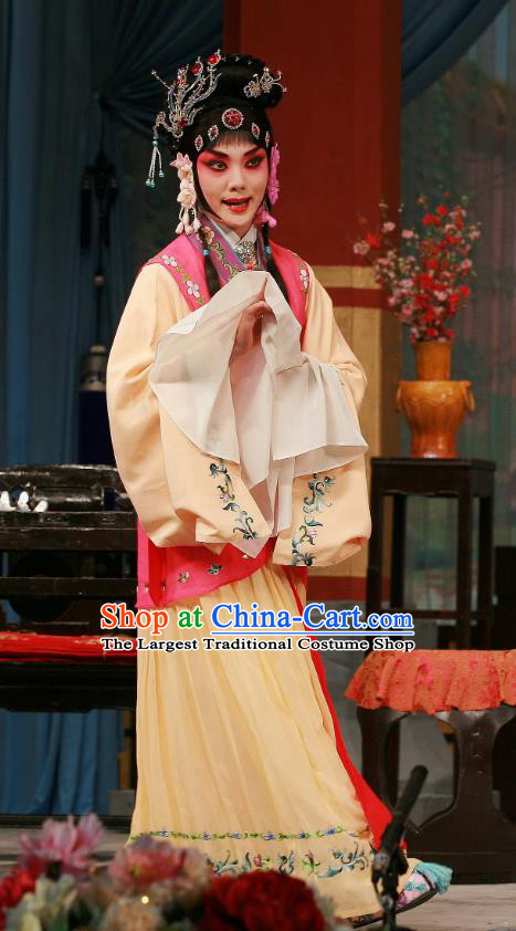 Chinese Beijing Opera Huadan Apparels Wu Zetian Costumes and Headpieces Traditional Peking Opera Young Lady Dress Shangguan Wan Er Garment