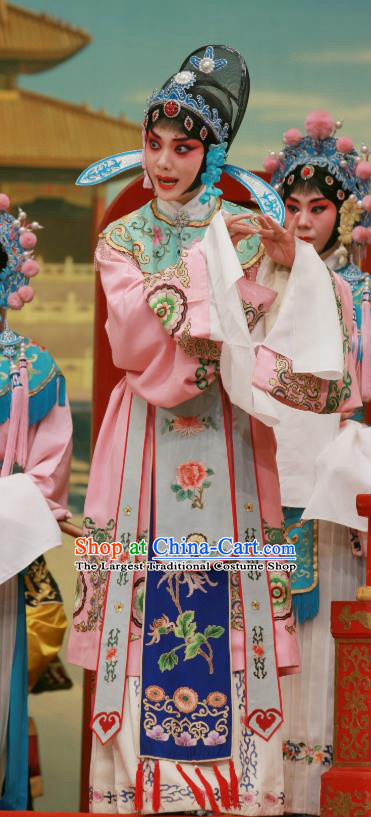 Chinese Beijing Opera Actress Apparels Wu Zetian Costumes and Headpieces Traditional Peking Opera Female Official Shangguan Wan Er Dress Actress Garment
