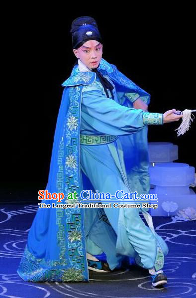 A Love Beyond Chinese Peking Opera Xiaosheng Garment Costumes and Headwear Beijing Opera Young Male Apparels Craftsman Cui Ning Clothing