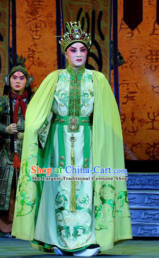 King Zhao Wuling Chinese Peking Opera Xiaosheng Garment Costumes and Headwear Beijing Opera Young Male Apparels Prince Zhao He Clothing
