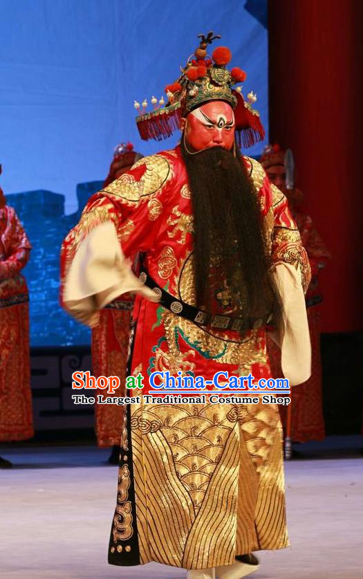 Nan Jie Guan Chinese Peking Opera Official Liu Renshan Garment Costumes and Headwear Beijing Opera Jing Apparels General Clothing