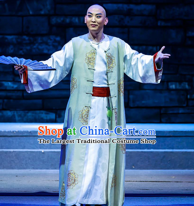 The Grand Mansion Gate Chinese Peking Opera Young Male Garment Costumes and Headwear Beijing Opera Xiaosheng Bai Jingqi Apparels Clothing