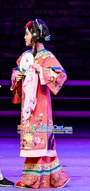 Chinese Beijing Opera Actress Apparels The Grand Mansion Gate Costumes and Headdress Traditional Peking Opera Diva Dress Courtesan Yang Jiuhong Garment
