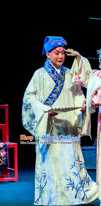Six Chapters of A Floating Life Chinese Peking Opera Xiaosheng Apparels Costumes and Headpieces Beijing Opera Young Male Garment Scholar Clothing