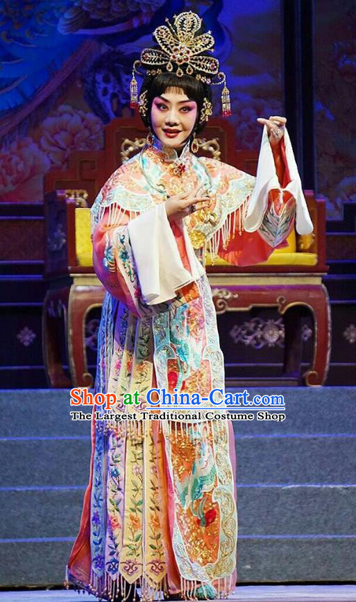 Chinese Beijing Opera Hua Tan Apparels Princess Changping Costumes and Headdress Traditional Peking Opera Young Female Dress Court Lady Garment