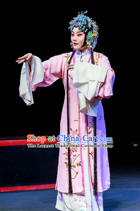 Chinese Beijing Opera Actress Garment Six Chapters of A Floating Life Costumes and Hair Accessories Traditional Peking Opera Hua Tan Dress Diva Yun Niang Apparels