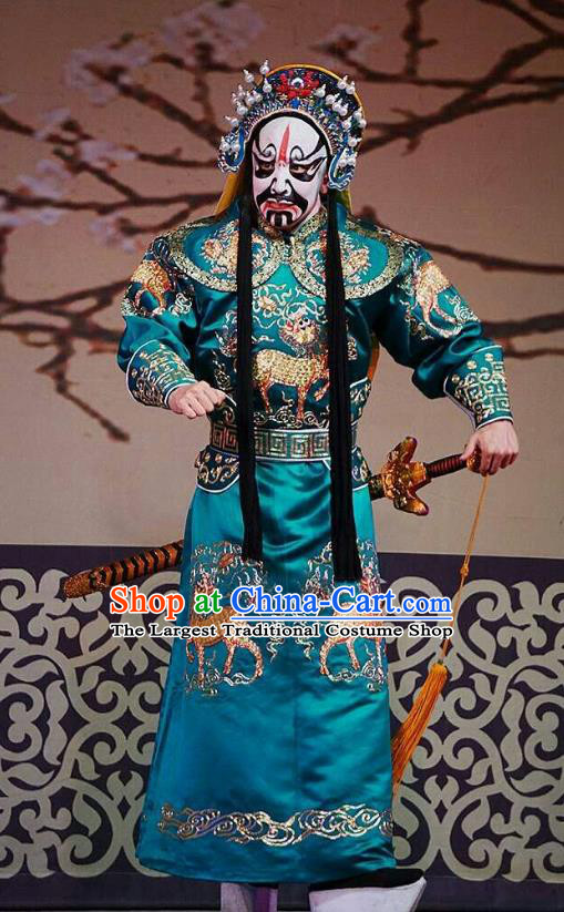 Princess Changping Chinese Peking Opera Wusheng Garment Costumes and Headwear Beijing Opera Martial Male Apparels Takefu Clothing