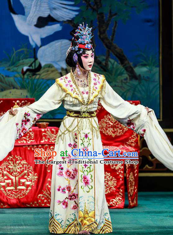 Chinese Beijing Opera Hua Tan Garment The Dream Of Red Mansions Costumes and Hair Accessories Traditional Peking Opera Actress Wang Xifeng Dress Noble Mistress Apparels