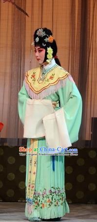 Chinese Beijing Opera Maid Lady Garment The Dream Of Red Mansions Costumes and Hair Accessories Traditional Peking Opera Servant Girl Ping Er Dress Apparels