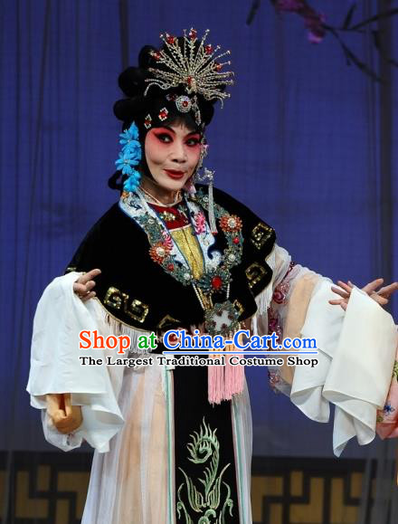 Chinese Beijing Opera Diva Garment The Dream Of Red Mansions Costumes and Hair Accessories Traditional Peking Opera Young Mistress Wang Xifeng Dress Apparels