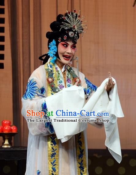 Chinese Beijing Opera Hua Tan Wang Xifeng Garment The Dream Of Red Mansions Costumes and Hair Accessories Traditional Peking Opera Young Mistress Dress Apparels