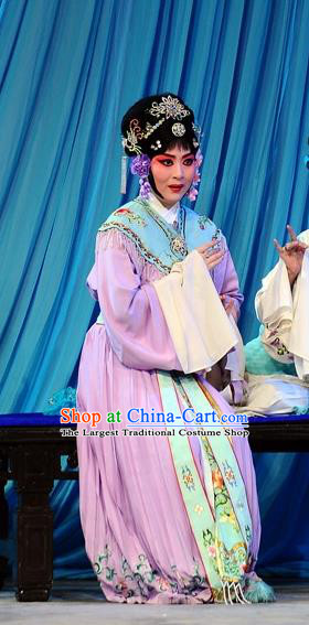 Chinese Beijing Opera Servant Girl Garment The Dream Of Red Mansions Costumes and Hair Accessories Traditional Peking Opera Maid Lady Ping Er Dress Apparels