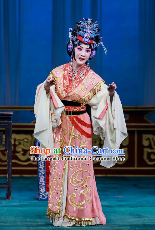 Chinese Beijing Opera Young Mistress Garment The Dream Of Red Mansions Costumes and Hair Accessories Traditional Peking Opera Hua Tan Dress Noble Female Wang Xifeng Apparels