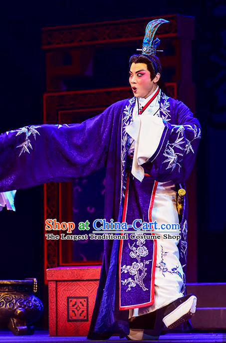 Anecdote of Jian An Chinese Peking Opera Niche Garment Costumes and Headwear Beijing Opera Scholar Dong Si Apparels Young Male Clothing