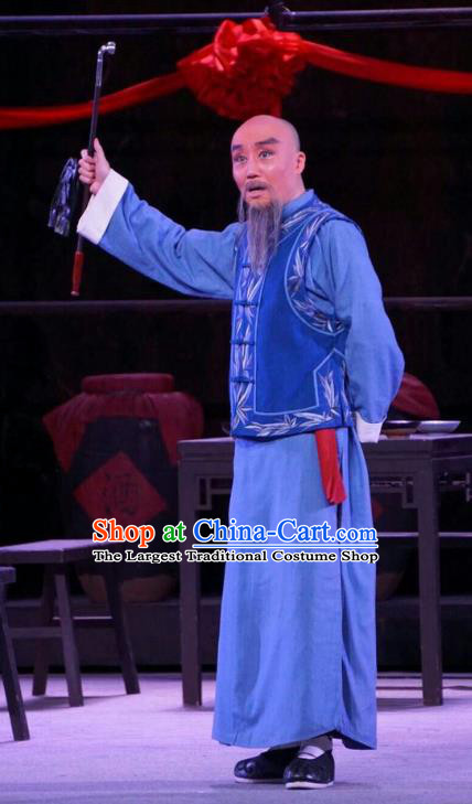 Chinese Peking Opera Old Man Apparels Costumes and Headpieces Beijing Opera Elderly Male Garment Clothing
