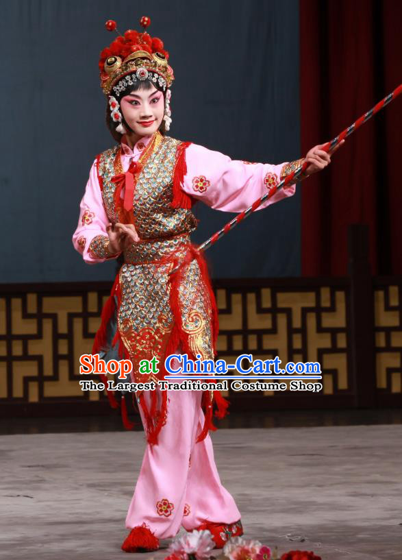 Chinese Beijing Opera Fairy Garment The Eight Immortals Crossing the Sea Costumes and Hair Accessories Traditional Peking Opera Actress Dress Apparels