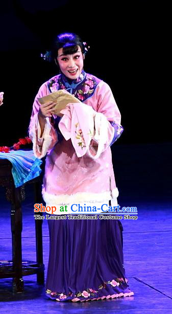 Chinese Beijing Opera Young Mistress Rui Jue Garment Luo Mei Yin Costumes and Hair Accessories Traditional Peking Opera Rich Female Dress Hua Tan Apparels