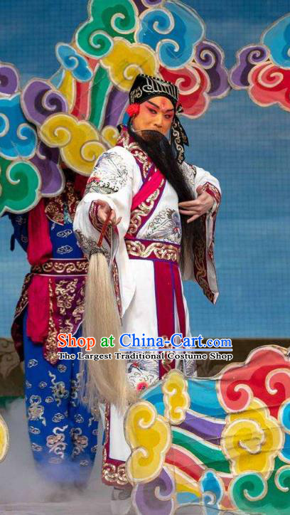 The Eight Immortals Crossing the Sea Chinese Peking Opera Elderly Male Apparels Costumes and Headpieces Beijing Opera Taoist Priest Lv Dongbin Garment Clothing