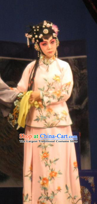 Chinese Ping Opera Young Lady Apparels Costumes and Headpieces Southeast Fly the Peacocks Traditional Pingju Opera Xiaodan Dress Garment