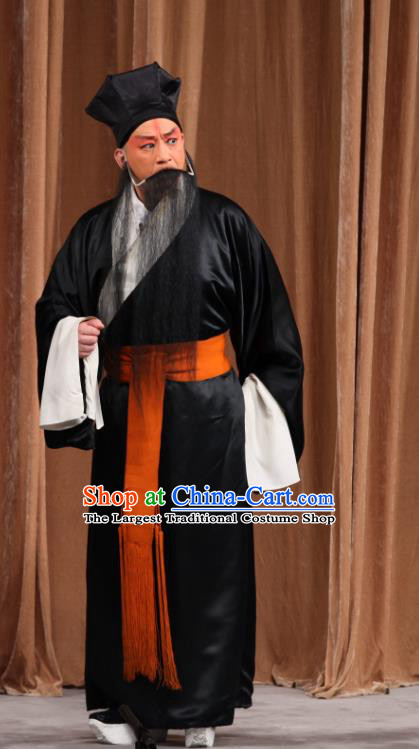 Jin Yunu Chinese Peking Opera Elderly Male Apparels Costumes and Headpieces Beijing Opera Old Servant Garment Clothing