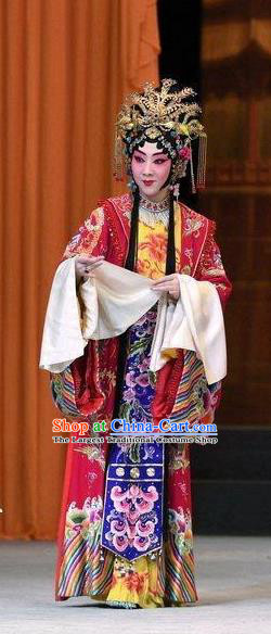 Chinese Beijing Opera Hua Tan Garment Xiang Lian Case Costumes and Hair Accessories Traditional Peking Opera Actress Dress Princess Apparels