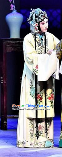 Chinese Beijing Opera Actress Garment Ming City Wall Costumes and Hair Accessories Traditional Peking Opera Young Woman Dress Huadan Apparels