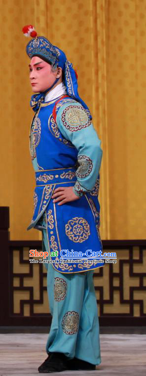 Tai Bai Drunk Chinese Peking Opera Soldier Apparels Costumes and Headpieces Beijing Opera Martial Male Garment Wusheng Clothing