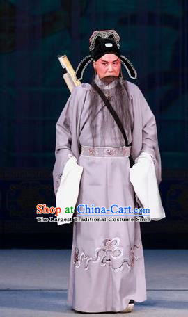 Hua Long Dian Jing Chinese Peking Opera Scholar Ma Zhou Apparels Costumes and Headpieces Beijing Opera Laosheng Garment Clothing