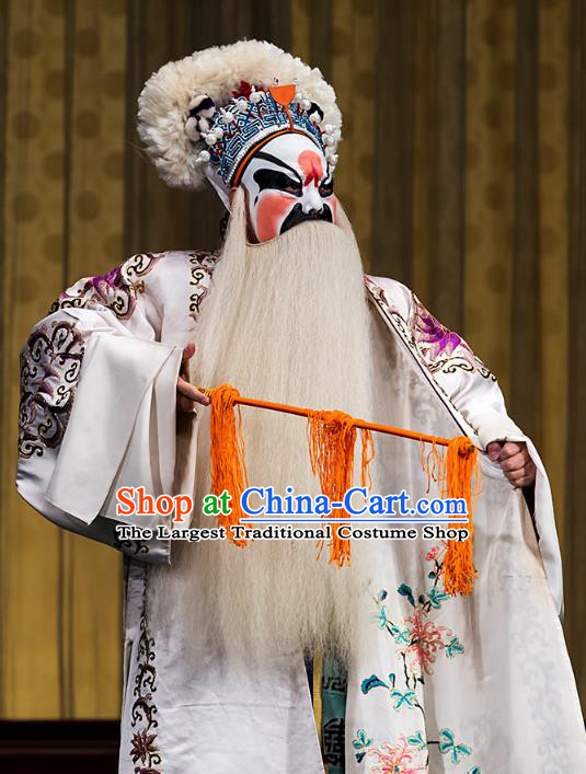 Four Heroes Village Chinese Peking Opera Martial Male Apparels Costumes and Headpieces Beijing Opera Jing Role Garment Swordsman Clothing