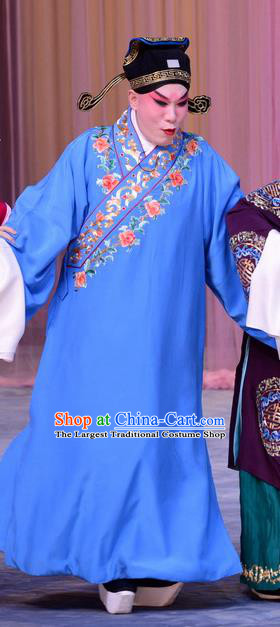 The Jade Hairpin Chinese Peking Opera Young Male Zhao Qixian Apparels Costumes and Headpieces Beijing Opera Xiaosheng Garment Scholar Clothing