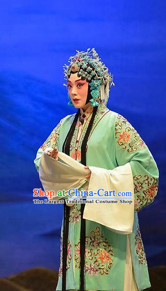 Chinese Beijing Opera Young Mistress Garment Sun An Dong Ben Costumes and Hair Accessories Traditional Peking Opera Actress Dress Madam Apparels