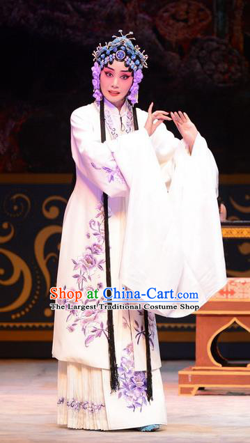 Chinese Ping Opera Diva Apparels Costumes and Headpieces Yu Zhou Feng Traditional Pingju Opera Hua Tan Dress Young Female Zhao Yanrong Garment